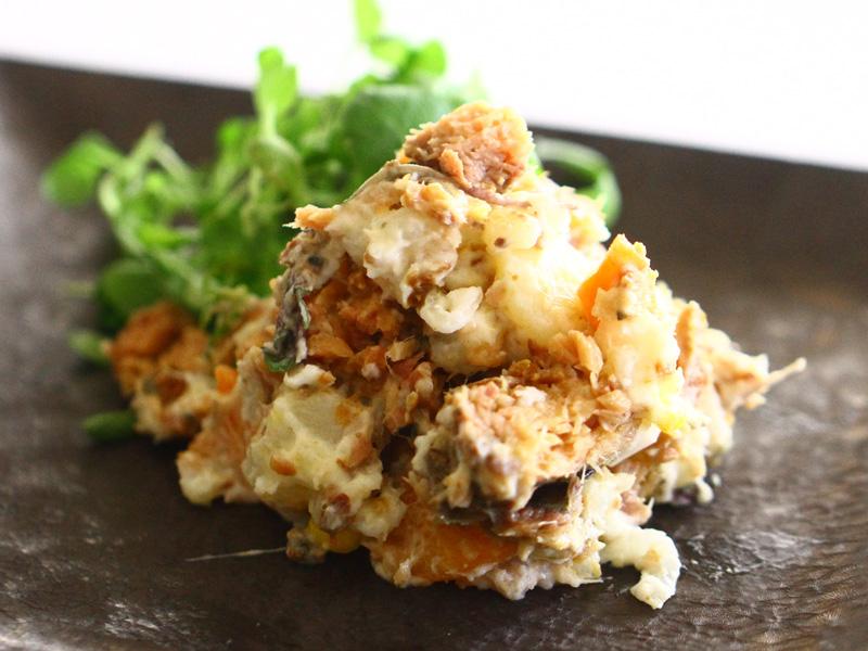 鯉ごころ生姜煮のポテトサラダ